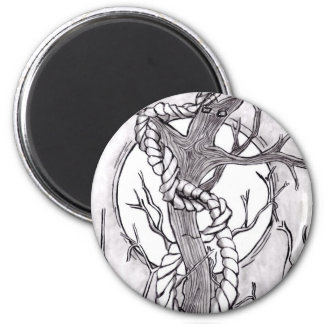 evil tree 2 inch round magnet