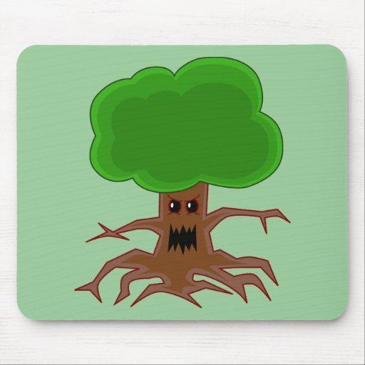 Evil Tree Design Mouse Pad