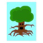 Evil Tree Design Post Card