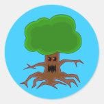 Evil Tree Design Stickers