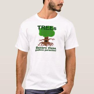 Evil Tree Godless Parasites Design T-Shirt