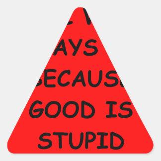 evil triangle sticker