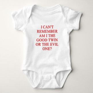 evil twin joke baby bodysuit