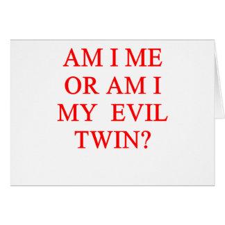 evil twin joke card