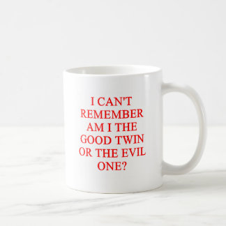 evil twin joke coffee mug