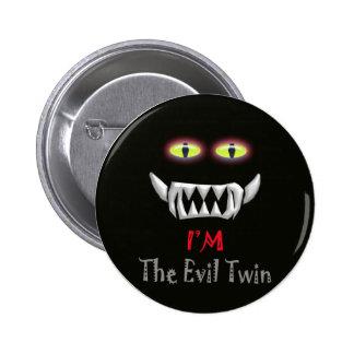 evil twin pinback button