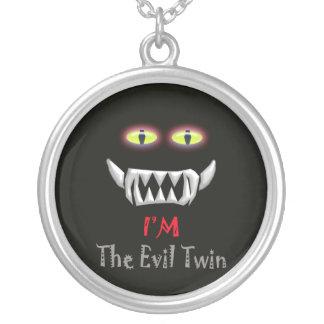 evil twin round pendant necklace