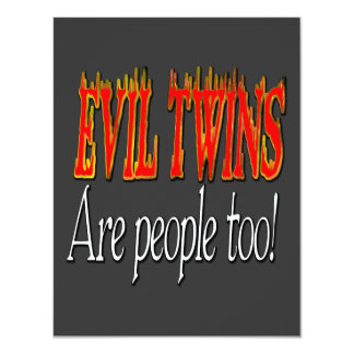 Evil Twins are people too! Card