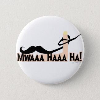 Evil Twirling Moustache Pinback Button