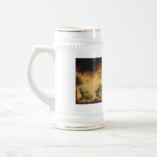 Evil-ution Coffee cup/stein 18 Oz Beer Stein