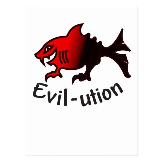 evil-ution postcard