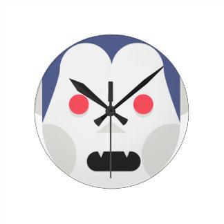 Evil Vampire Round Clock