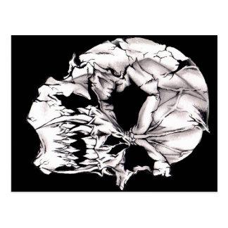 Evil Vampire Skull Postcard