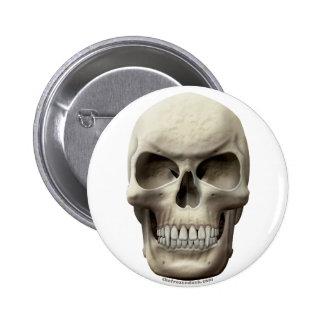 Evil Vampiric Skull Pinback Button