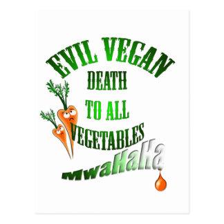 evil vegan postcard