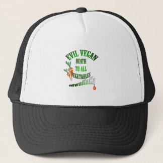 evil vegan trucker hat