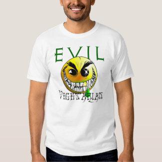 Evil vegetarian smiley tee