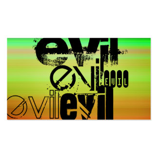 Evil; Vibrant Green, Orange, & Yellow Double-Sided Standard Business Cards (Pack Of 100)