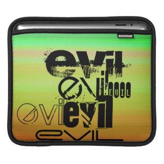 Evil; Vibrant Green, Orange, & Yellow iPad Sleeve