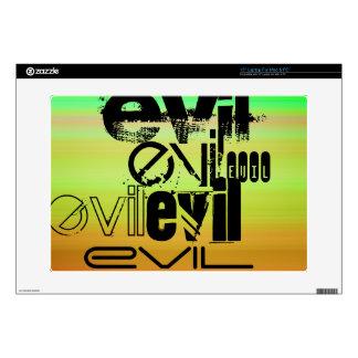 """Evil; Vibrant Green, Orange, & Yellow 15"""" Laptop Decals"""