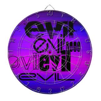 Evil; Vibrant Violet Blue and Magenta Dart Board