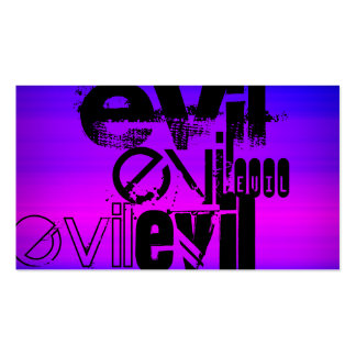 Evil; Vibrant Violet Blue and Magenta Double-Sided Standard Business Cards (Pack Of 100)