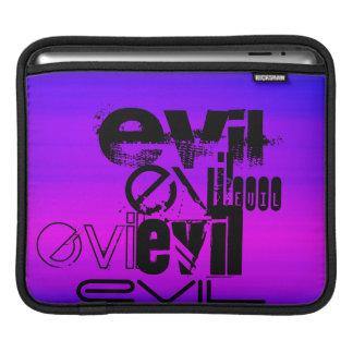 Evil; Vibrant Violet Blue and Magenta iPad Sleeve