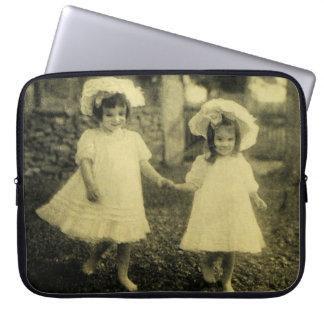 Evil Victorian Portrait Girls Eeire Vintage Weird Laptop Computer Sleeves