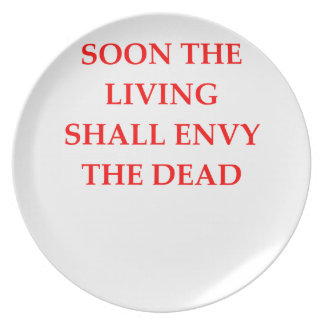 evil warning party plate