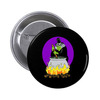 Evil witch brew buttons