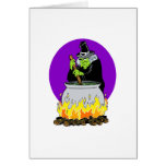 Evil witch & brew greeting card