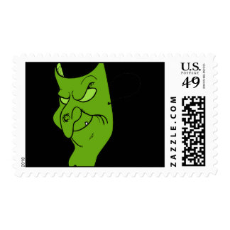 Evil Witch Mask Postage Stamp