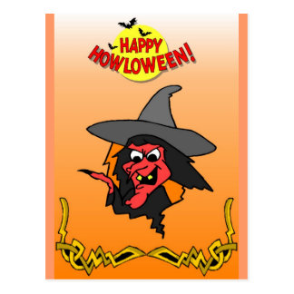 Evil witch postcard