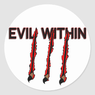 Evil Within Classic Round Sticker