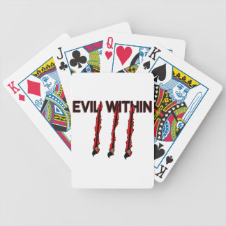 Evil Within Claw Marks Bicycle Playing Cards
