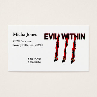 Evil Within Claw Marks Business Card