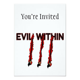Evil Within Claw Marks Card