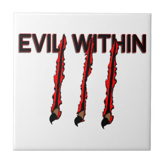 Evil Within Claw Marks Ceramic Tile