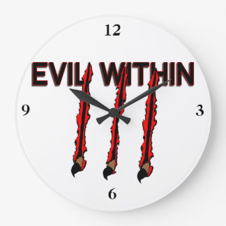 Evil Within Claw Marks Large Clock