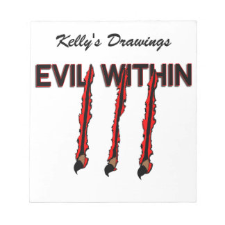 Evil Within Claw Marks Notepad