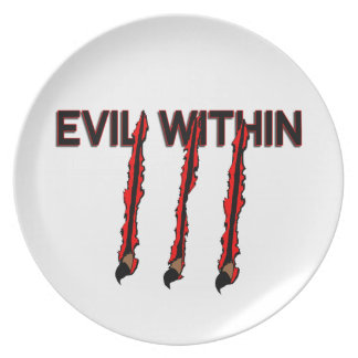 Evil Within Claw Marks Plate