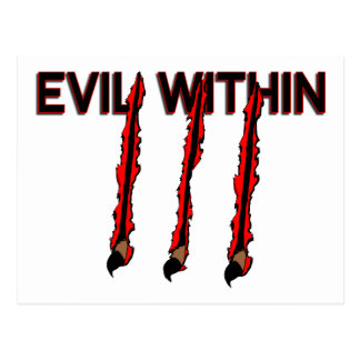 Evil Within Claw Marks Postcard