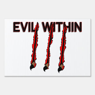 Evil Within Claw Marks Sign