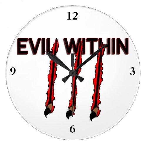 Evil Within Claw Marks Wallclocks
