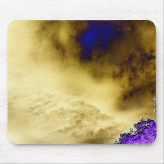 Evil Yellow&Blue Storm and Purple Tree  by KLM Mouse Pad