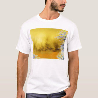 Evil Yellow Mammatus Clouds and Glowing Hickory Br T-Shirt