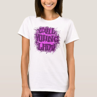Evil Young LAds Meanie Purp an Pink T-Shirt