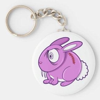 Evil Zombie Easter Bunny Rabbit Overload Key Chain
