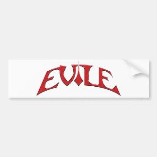 Evile logo bumper sticker