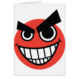 evilface greeting card